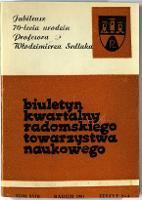 Biuletyn Kwartalny Radomskiego Towarzystwa Naukowego, 1981, T. 18, z. 2-4