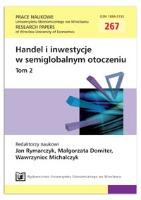 Wpływ kryzysu żywnościowego na wykorzystanie ograniczeń eksportowych w handlu międzynarodowym surowcami rolnymi. Prace Naukowe Uniwersytetu Ekonomicznego we Wrocławiu = Research Papers of Wrocław University of Economics, 2012, Nr 267, T. 2, s. 39-48