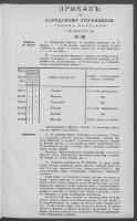Prikazʺ po Gorodskomu Upravleniû Goroda Varšavy. 1899 nr 49 (5 [17] III)