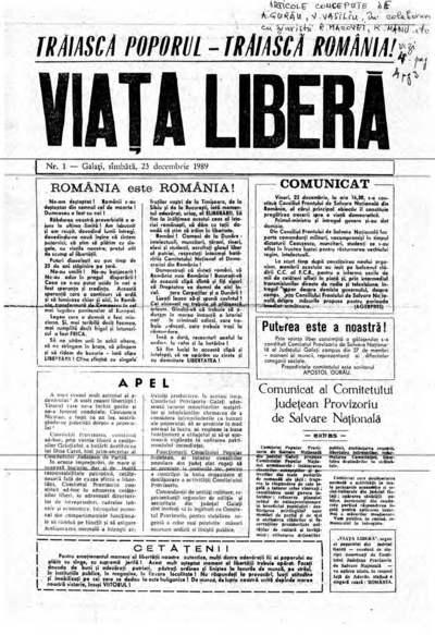 Presa din Galați în zilele Revoluției Române