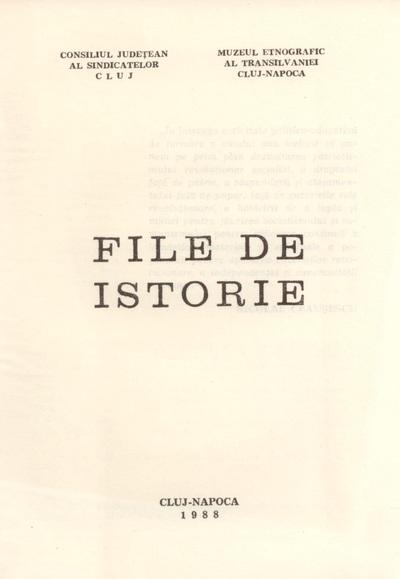 """Buletinul """"File de Istorie"""""""