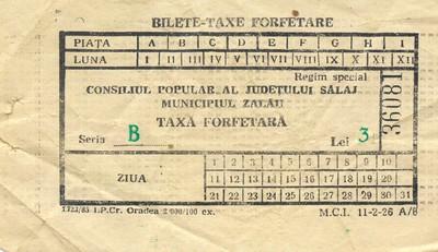 Bilete din anii 1988-1989