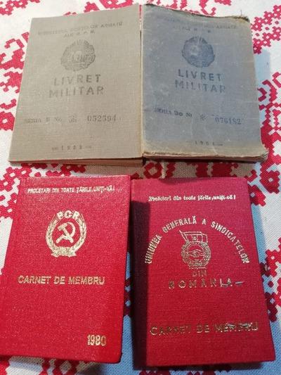 Carnete diverse din perioada comunistă