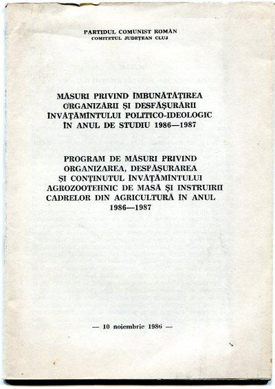 Broșuri ale Partidului Comunist Român