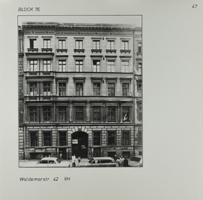 Fotografie: Waldemarstr. 42, um 1981