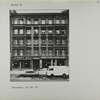 Fotografie: Oranienstr. 33, um 1981