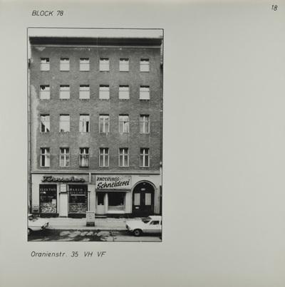 Fotografie: Oranienstr. 35, um 1981