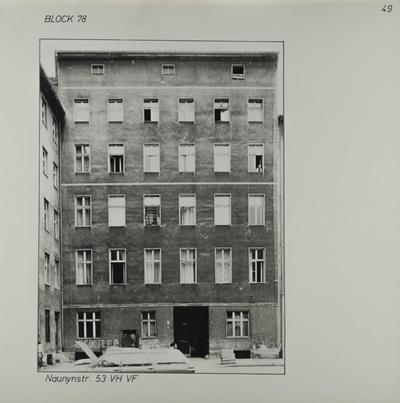 Fotografie: Naunynstr. 53, um 1981