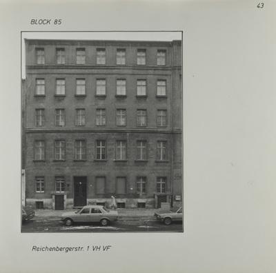 Fotografie: Reichenberger Str. 1, um 1981