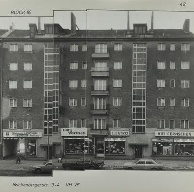 Fotografie: Reichenberger Str. 3-4, um 1981