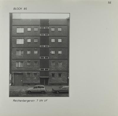 Fotografie: Reichenberger Str. 7, um 1981