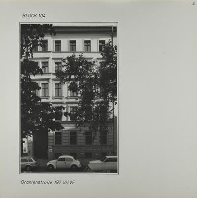 Fotografie: Oranienstr. 197, 1987