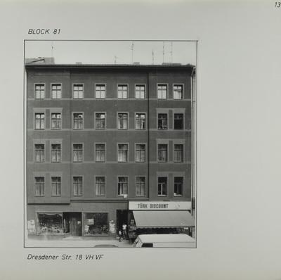 Fotografie: Dresdener Str. 18, 1983