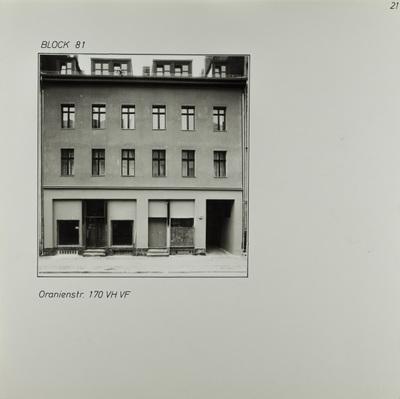 Fotografie: Oranienstr. 170