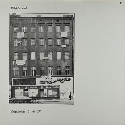 Fotografie: Oranienstr. 3, 1983