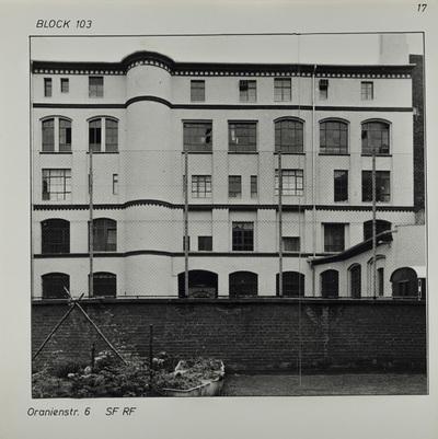 Fotografie: Oranienstr. 6, 1983