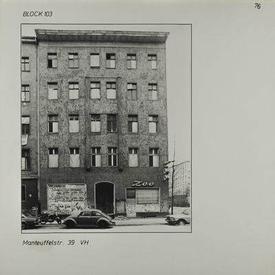 Fotografie: Manteuffelstr. 39, 1983