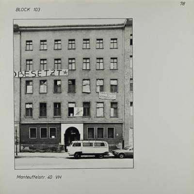 Fotografie: Manteuffelstr. 40, 1983
