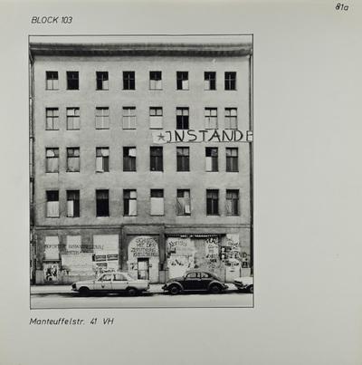 Fotografie: Manteuffelstr. 41, 1983