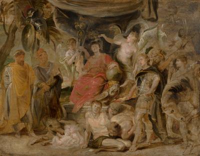De triomf van Rome: De jeugdige keizer Constantijn eert Rome