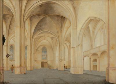 Het interieur van de Cunerakerk in Rhenen