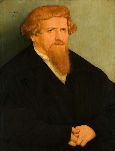 Portret van een man met een rode baard