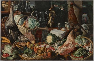 Keukenscène met Christus en de Emmaüsgangers