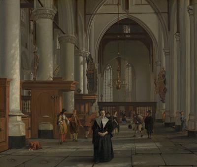 Interieur van de Laurenskerk in Rotterdam