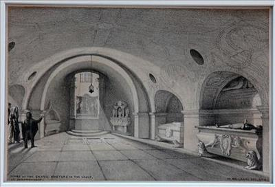 Tombs Of The Grand Masters In The Vault of St. John`s Church in Valletta