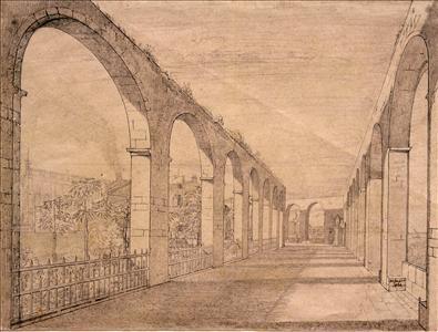View of the Arcades, Upper Barrakka Gardens, Valletta