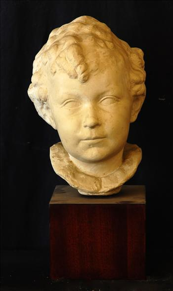 Head of a boy with frilled collar
