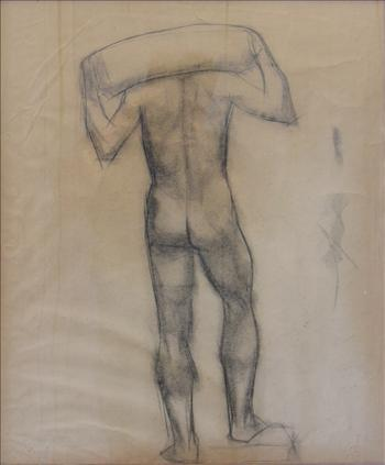 Standing male nude (in act of carrying)