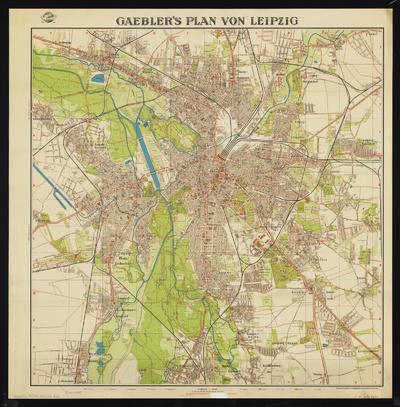 Stadtplan von Leipzig, 1:25 000, Lithographie, 1940