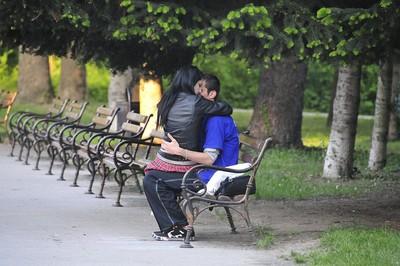 Varna - Paar im Park