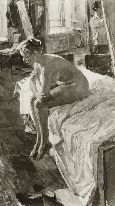 Sitzender weiblicher Akt