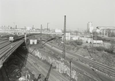 Blick von der Budapester Straße über die Gleiskörper
