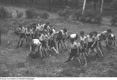 Sportfest der Pioniere der 1. POS Dr. Kurt Fischer, Mai 1952
