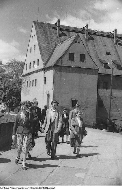 Königstein, Festung Königstein, Enthüllung einer Gedenktafel für August Bebel, Landschaften, Juni 1955