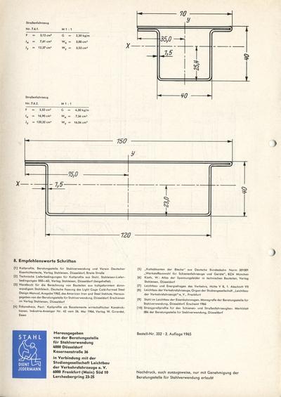 Prospekt: Beratungsstelle für Stahlverwendung