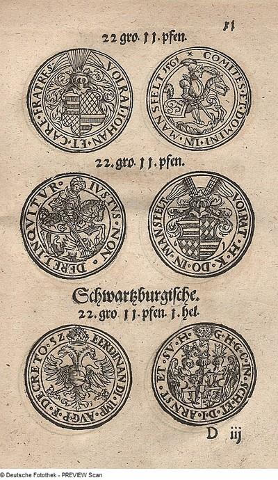 Taler der Grafen von Mansfeld; Taler des Grafen von Schwarzburg