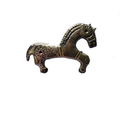 ezüst lovacskás fibula