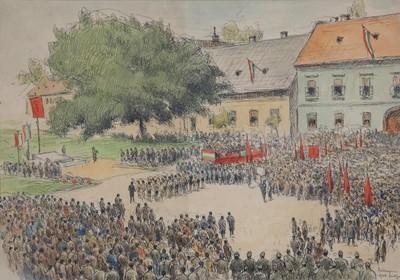 Az 1948-as esztergomi május 1-i Széchenyi téri ünnepség