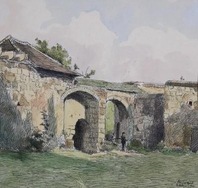 A régi várudvarból falrészlet