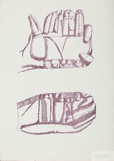 Kéztanulmányok.(Lila 4.)