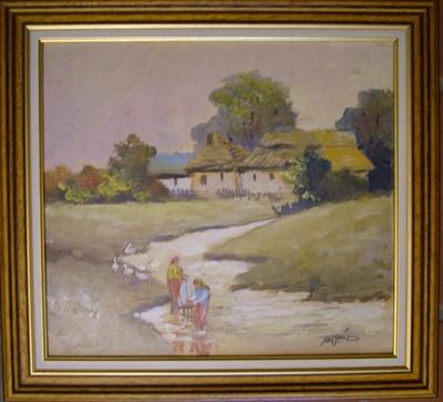 Tanya a folyó partján