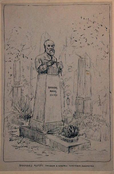 Barabás Miklós sírhelye a Kerepesi temetőben