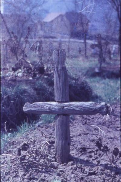 Sírkereszt fából