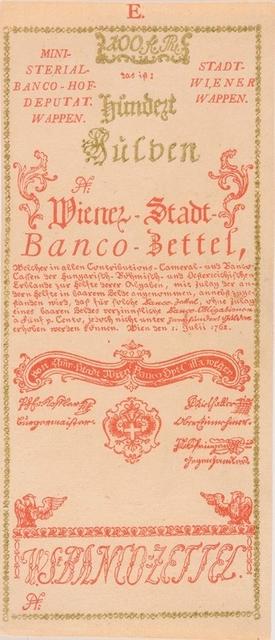 száz forint/gulden értékű bankócédula