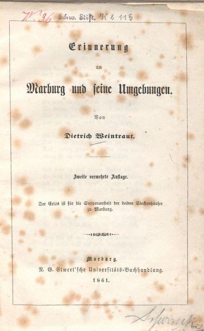 Erinnerung an Marburg und seine Umgebungen