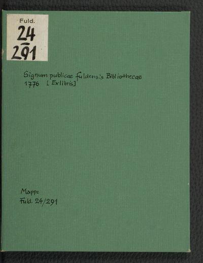Signum publicae Fuldensis bibliothecae MDCCLXXVI